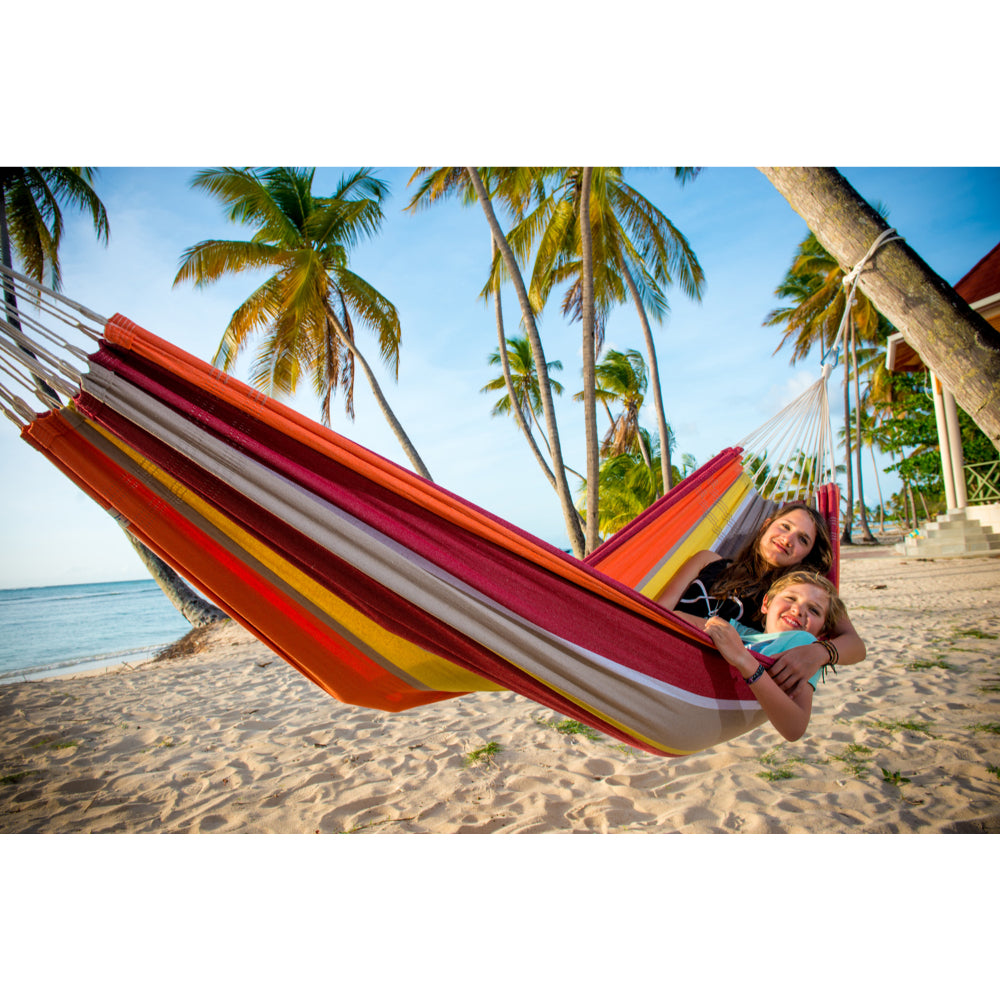 Brazilian Cotton Double Hammock - Acerola