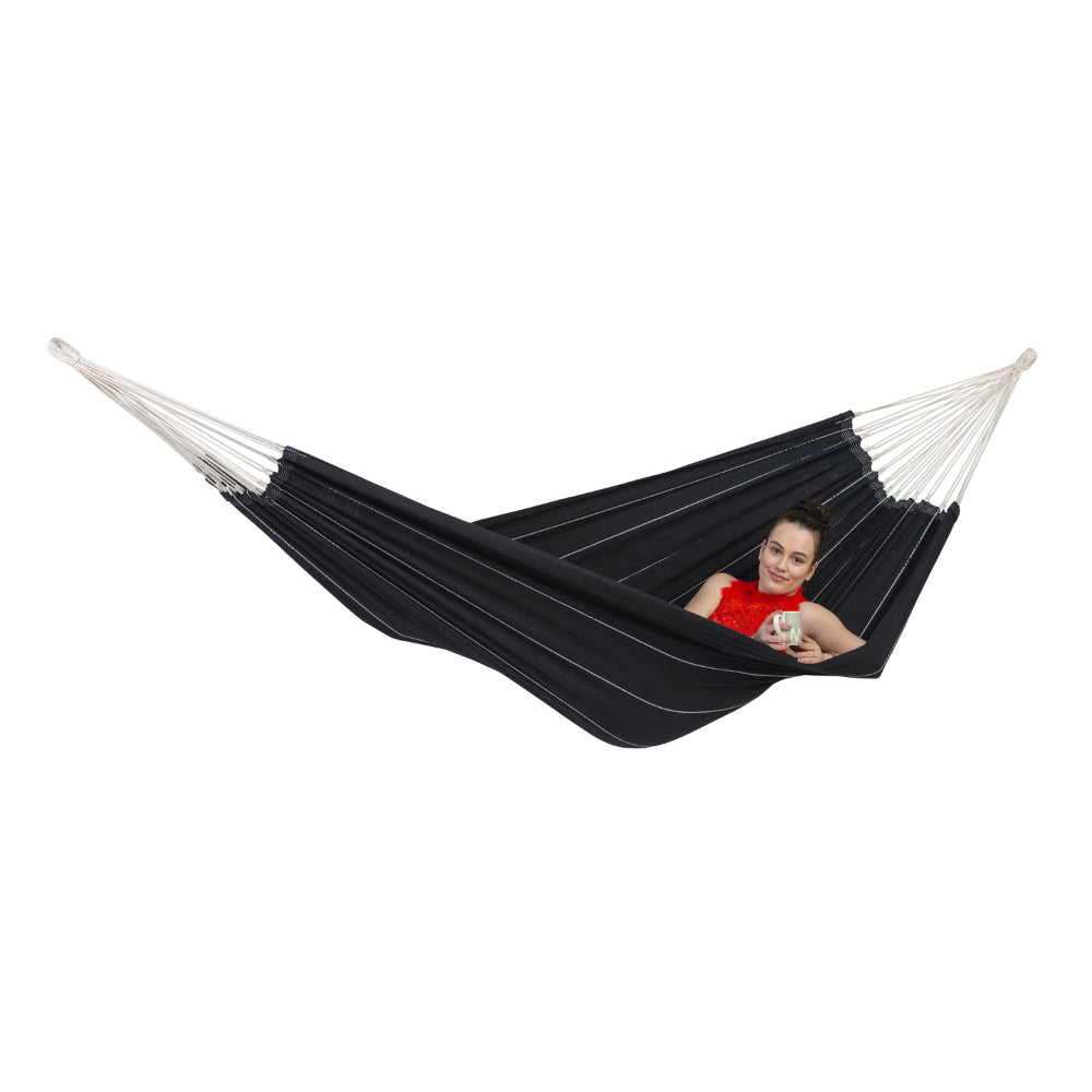 Brazilian Cotton Double Hammock - Black