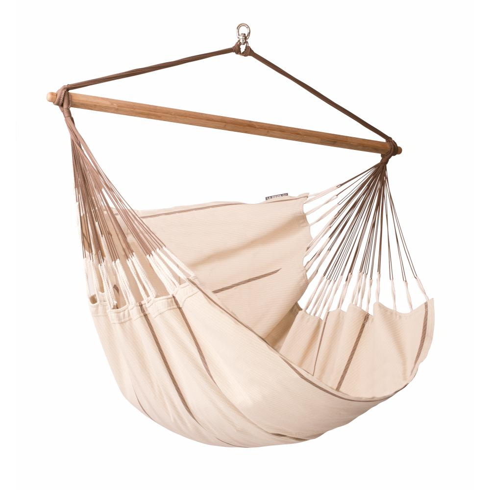 Neutral coloured cotton hammock chair