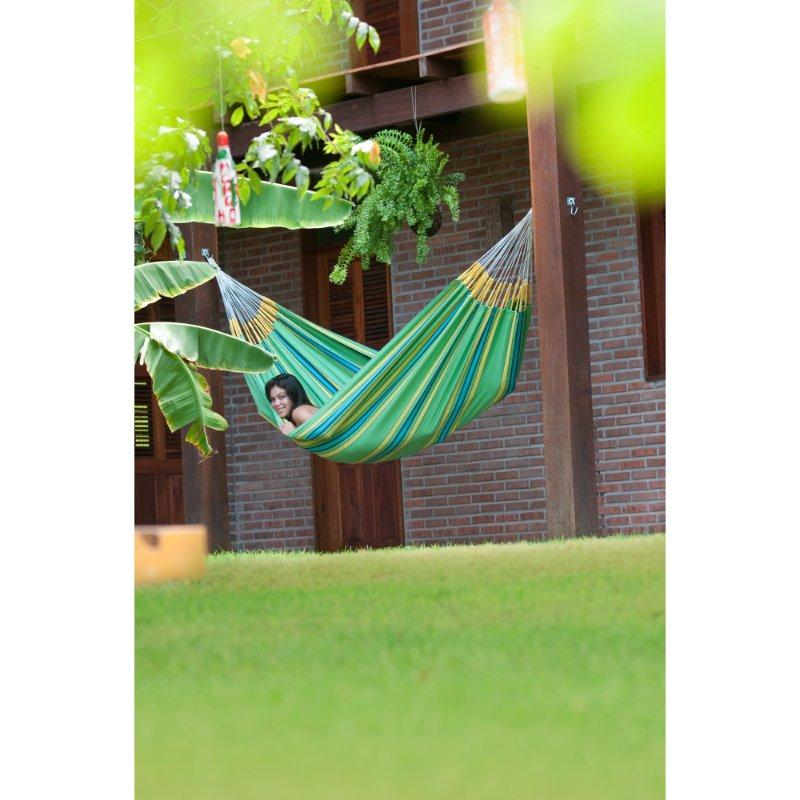 Hammock hanging between posts