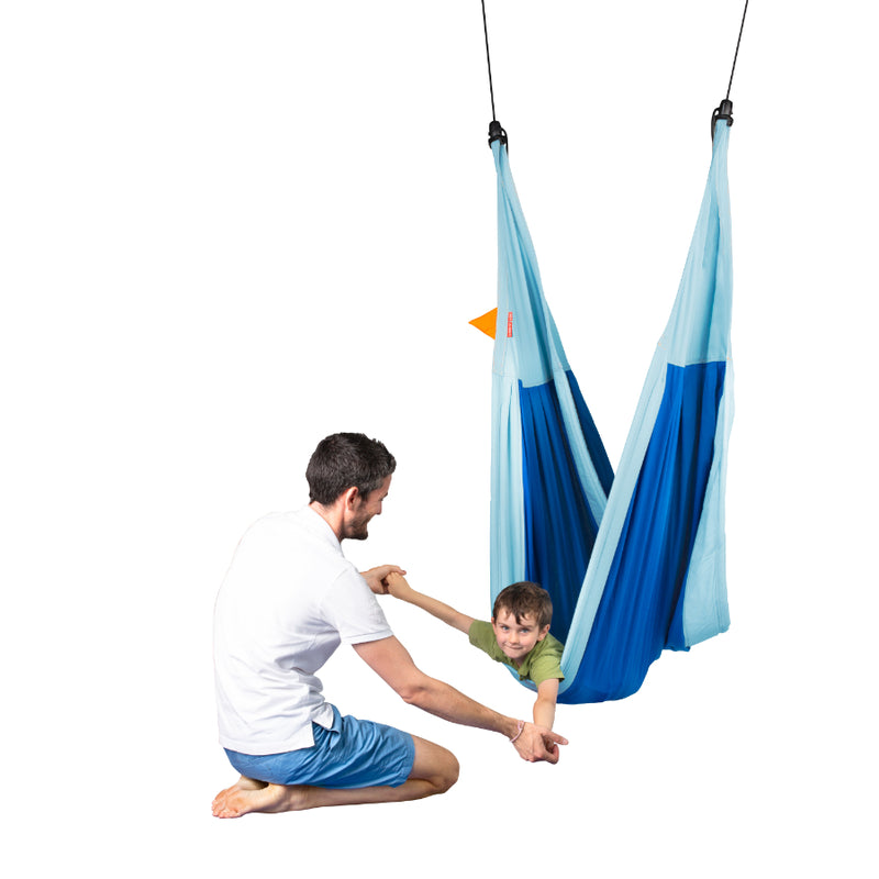Children's hammock used as therapy device for children with sensory processing issues