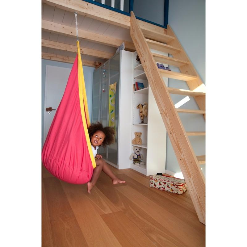 Cotton hanging nest - red