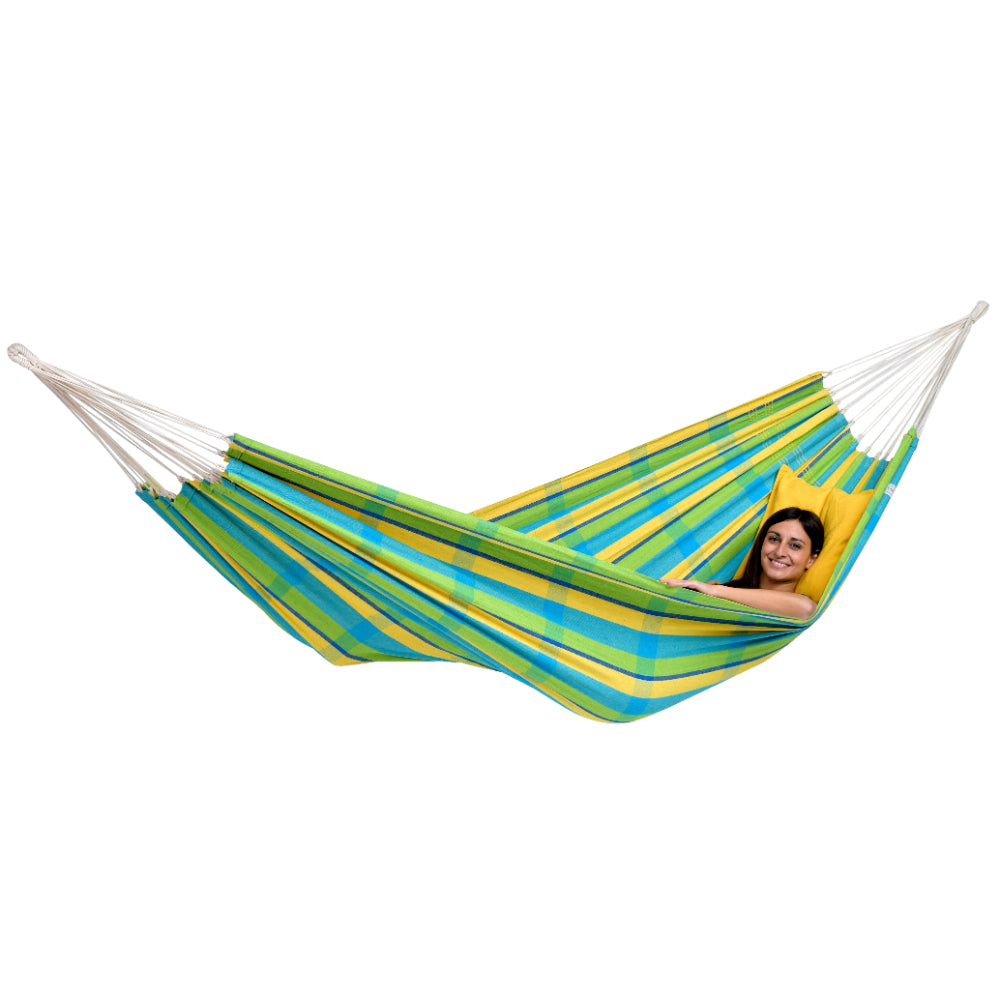 Brazilian Cotton Double Hammock - Lemon