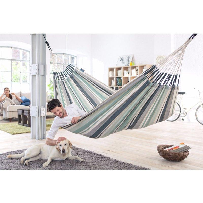 Hammock used indoors