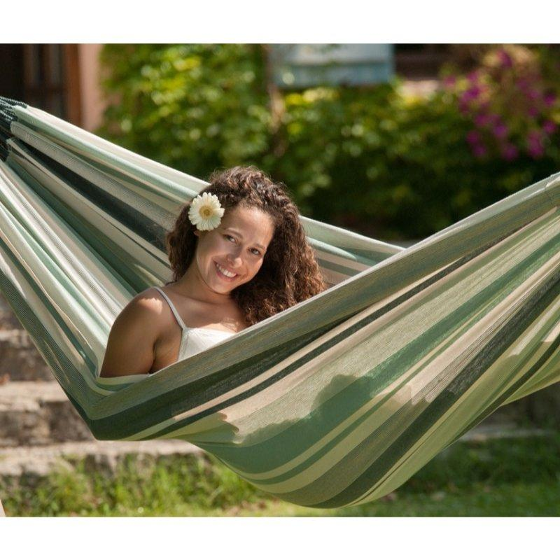 Natural outdoor cotton hammock