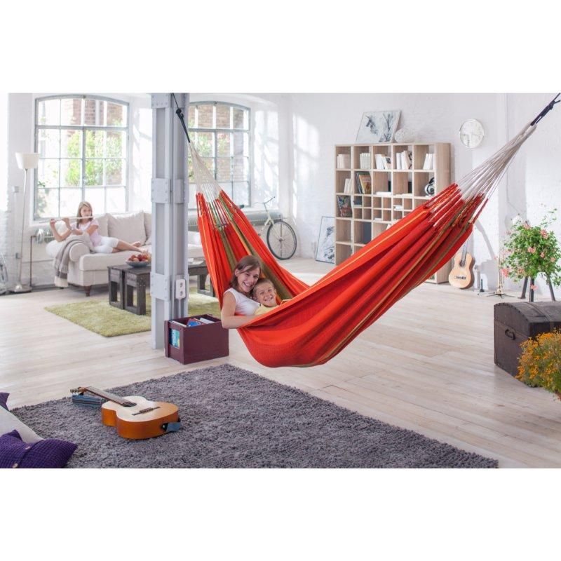 Red cotton indoor hammock
