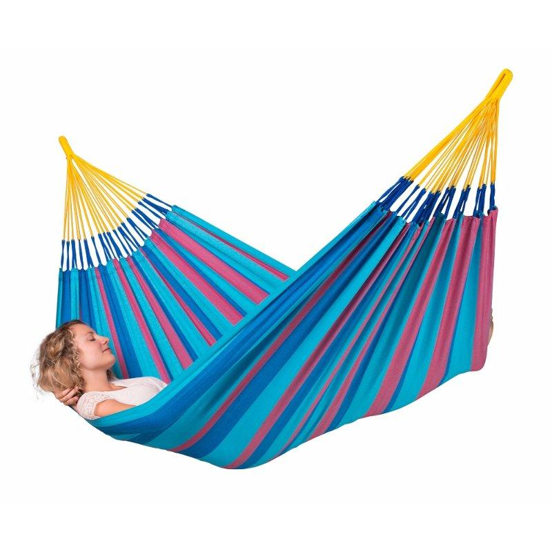 Single colourful fabric hammock