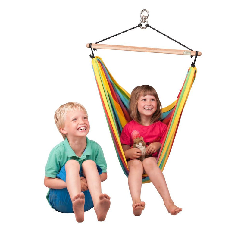 La Siesta Cotton Chair Hammock - Rainbow