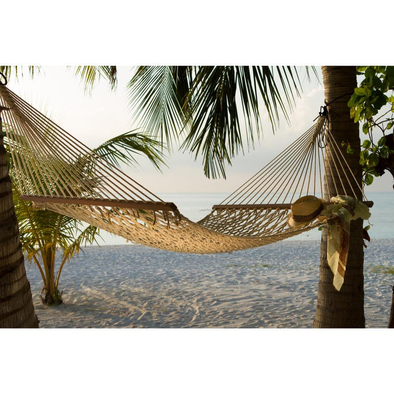 White rope hammock