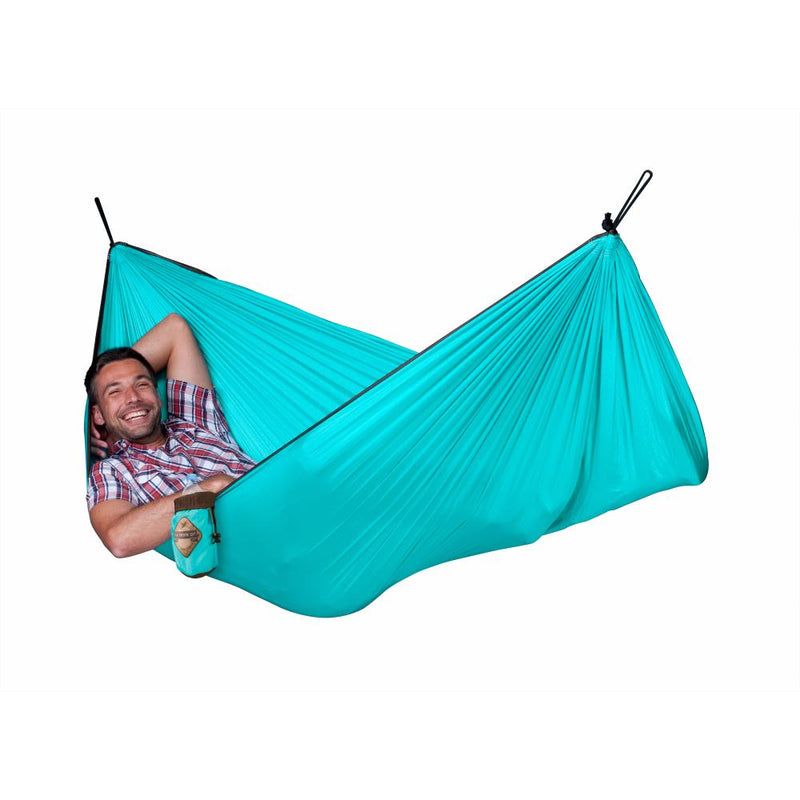 Parachute silk travel hammock - Single Turquoise