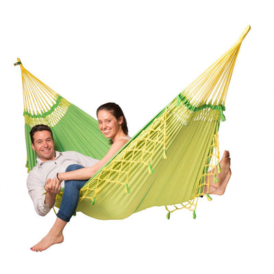 Two person Brazilian cotton hammock