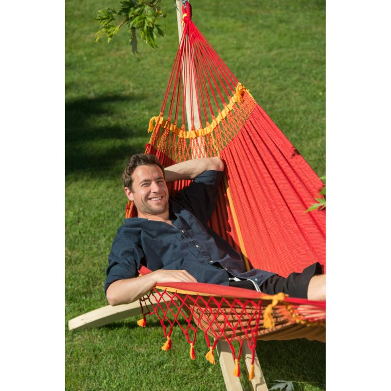 Brazilian hammock and wooden stand