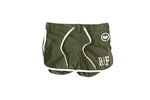 Female RF Flash Short Olive / White