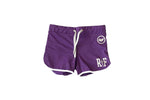Female RF Flash Shorts Purple / White