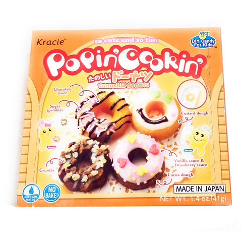 Kracie Popin' Cookin' Diy Candy for Kids, Donut Kit, 1.44 Ounce