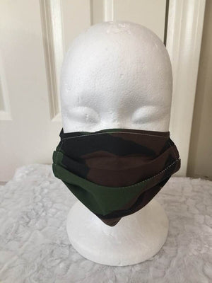 Face Covering - Camouflage Camo Brown and Tan Mask