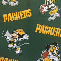 Face Covering - Green Bay Packers Minnie & Mickey Mouse