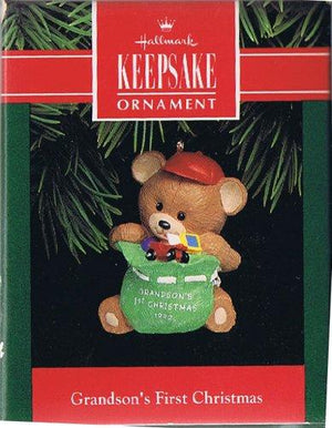Christmas Ornament -  1992 Grandson's 1st Christmas Hallmark Keepsake Ornament