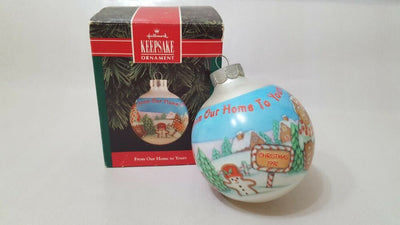Christmas Ornament -  Hallmark Keepsake Ornament 1992 From Our Home to Yours
