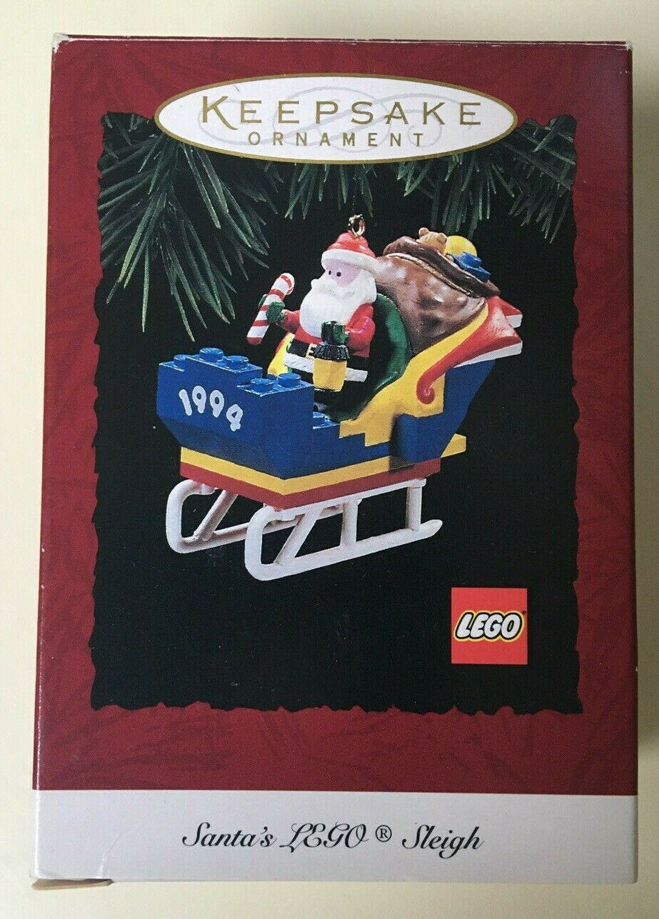 Christmas Ornament -  Hallmark Keepsake Ornament 1994 Santa's LEGO Sleigh