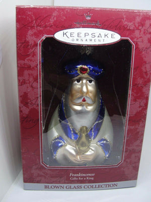 Christmas Ornament -  Hallmark Keepsake 1998 Frankincense Gifts for a King Blown Glass