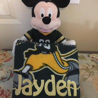 Disney Mickey Mouse NFL Green Bay PACKERS Fleece Throw Blanket & Hugger - Personalized