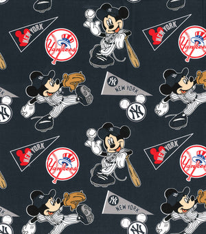 Face Covering - New York Yankees Mickey Mouse