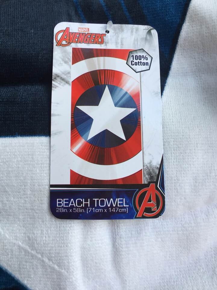 Marvel Captain America Shield Beach Towel - Personalized