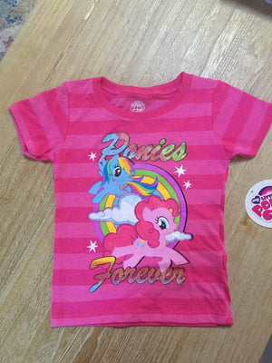 License Character My Little Pony Girls' Graphic T-Shirt - Rainbow Dash & Pinkie Pie Size 4T