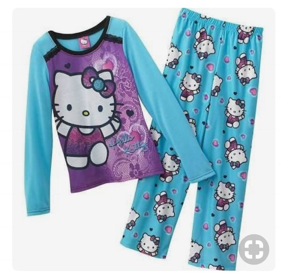 Hello Kitty - Little Girls Long Sleeve Hello Kitty Pajamas Size 4