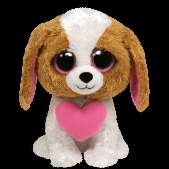 Ty Beanie Boos Brown Cookie Dog with Heart 36057