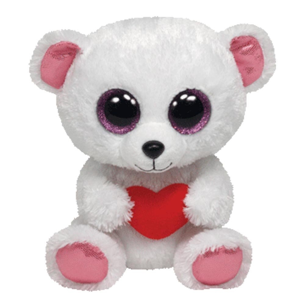 Ty Beanie Boos Sweetly - Polar Bear with Heart 36103