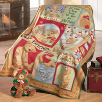 Teddy Bear Fleece Throw Blanket Personalized