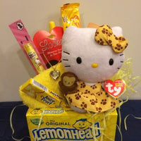 "Hello Kitty ""You are my Sunshine"" Inspiring Gift Basket. Birthday Or Get Well"