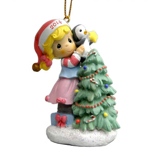 Christmas Ornament -  Precious Moments Santa 2014 Holiday Ornament