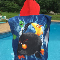Angry Birds RED BIRD Super Soft Hooded Beach Towel poncho - Personalized