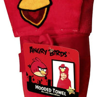 Angry Birds RED BIRD Super Soft Hooded Beach Towel Bath Towel Wrap - Personalized