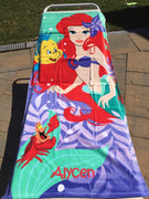 Ariel My Little Mermaid Beach Towel - Personalized Beach Towel