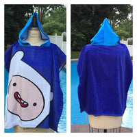 Adventure Time 'Finn the Human' Hooded Poncho Towel – Personalized