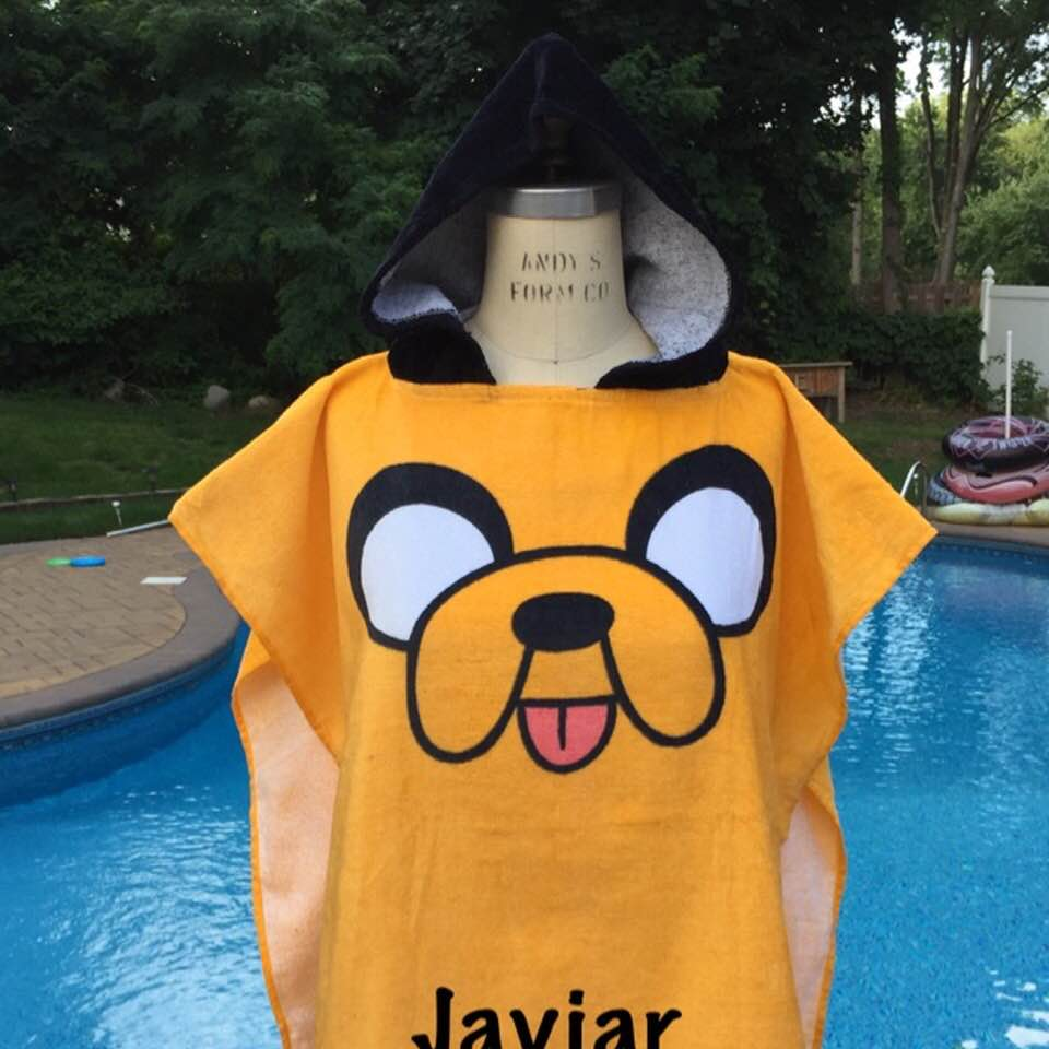 Adventure Time 'Jake the Dog' Hooded Poncho Towel – Personalized
