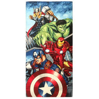 Marvel Avengers Battle Ready Beach Towel - Personalized