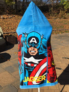 Avengers Super Hero Marvel Hooded Bath Wrap Beach Towel - Personalized