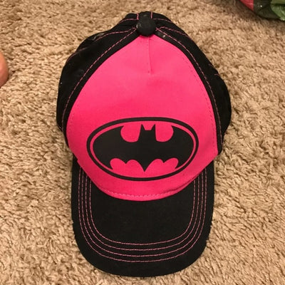 Batgirl Batman Logo Baseball Hat‑ Pink Cap - Personalized