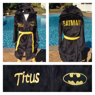 Boys Size 8 BATMAN Robe - Personalized LAST ONE
