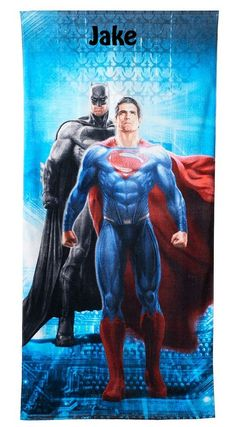 Batman V Superman Beach Towel Personalized Beach Towel