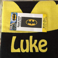 BATMAN Logo Beach Towel Personalized
