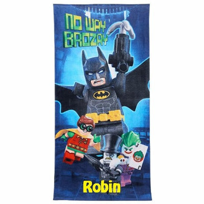 Batman Lego Batitude Beach Towel Personalized Beach Towel
