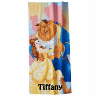 Beauty and the Beast Princess Belle Shadow Beach Towel - Personalized Beach Towel