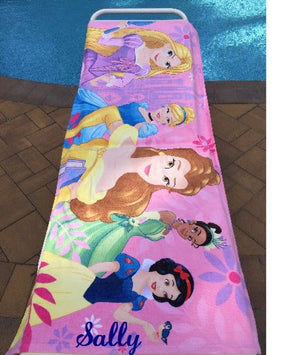 Disney Princess Beach Towel - Personalized Beach Towel Over sized  Belle
