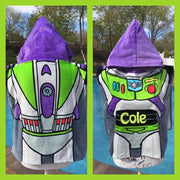 Disney TOY STORY Buzz Lightyear Boy's Hooded Beach Towel Poncho – Personalized